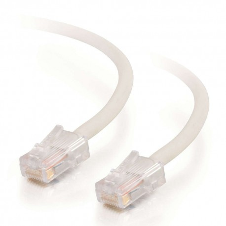 15m Cat5E 350 MHz Non-Booted RJ45 Patch Leads - White