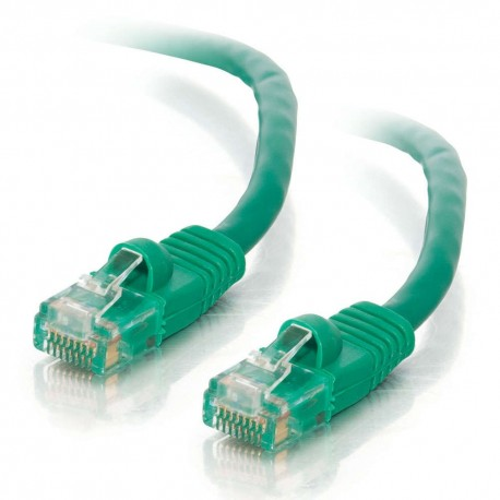 0.5m Cat5E 350 MHz Snagless RJ45 Patch Leads - Green