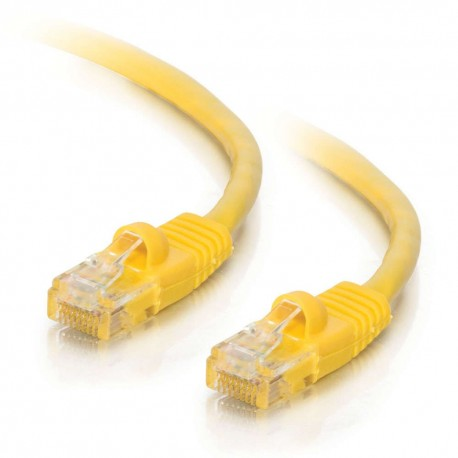 0.5m Cat5E 350 MHz Snagless RJ45 Patch Leads - Yellow