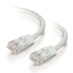C2G 1m Cat5e Booted Unshielded (UTP) Network Patch Cable - White