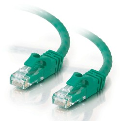 C2G 0.5m Cat6 Booted Unshielded (UTP) Network Patch Cable - Green