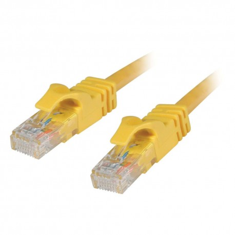 0.5m Cat6 550 MHz Snagless RJ45 Patch Leads - Yellow
