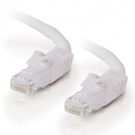 1m Cat6 550 MHz Snagless RJ45 Patch Leads - White