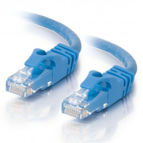 1m Cat6 550 MHz Snagless Crossover Cable - Blue