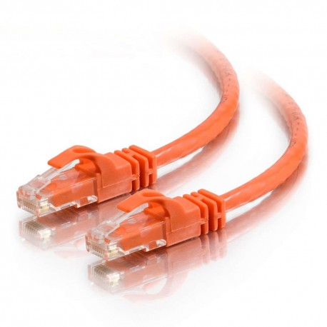 1m Cat6 550 MHz Snagless RJ45 Patch Leads - Orange
