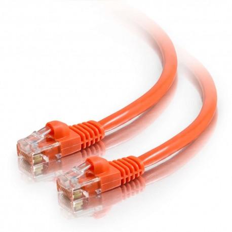 1m Cat5E 350 MHz Snagless RJ45 Patch Leads - Orange