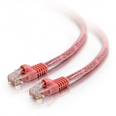 10m Cat5E 350 MHz Snagless RJ45 Patch Leads - Pink