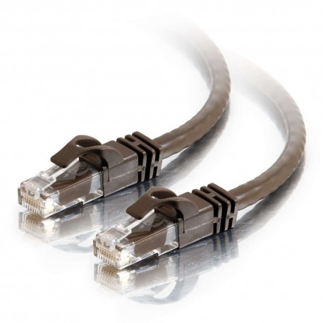1m Cat6 550 MHz Snagless RJ45 Patch Leads - Brown