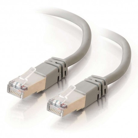 1m Shielded Cat5E Snagless RJ45 Patch Leads - Grey