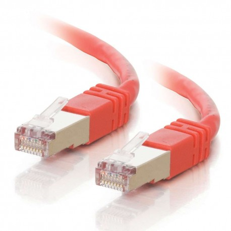 2m Shielded Cat5E RJ45 Patch Leads - Red