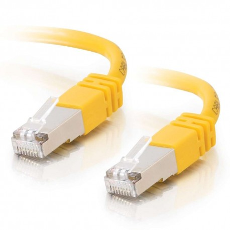 2m Shielded Cat5E RJ45 Patch Leads - Yellow