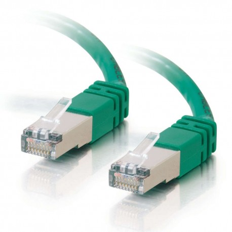 15m Shielded Cat5E RJ45 Patch Leads - Green
