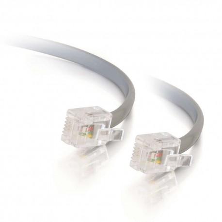 CablesToGo 3m RJ11 6P4C Straight Modular Cable