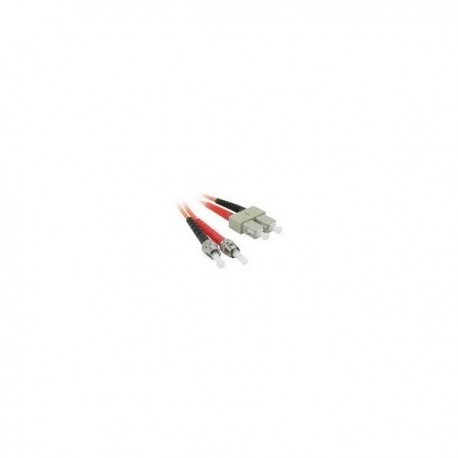 1m ST/SC LSZH Duplex 62.5/125 Multimode Fibre Patch Cable