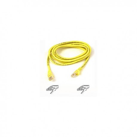 Belkin Cable patch CAT5 RJ45 snagless 3m yellow