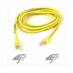 Belkin Patch Cable CAT5 RJ45snagl yellow0.5m