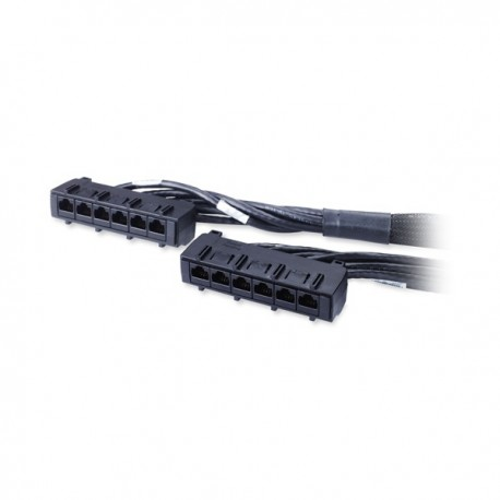 APC Data Distribution Cable CAT6 UTP CMR 6XRJ45 Black 15FT (4.5M)
