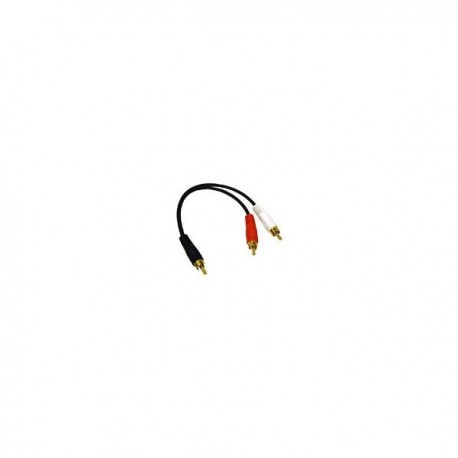 CablesToGo Value Series RCA Plug/RCA Plug x2 Y-Cable