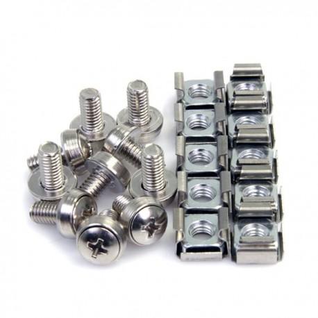 StarTech.com 100Pkg M6 Mounting Screws & Cage Nuts
