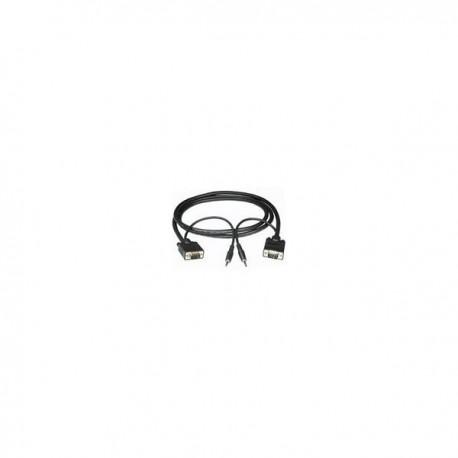 CablesToGo 3m Monitor Cable + 3.5mm Audio