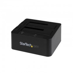 StarTech.com USB 3.0 / eSATA Dual Hard Drive Docking Station with UASP for 2.5/3.5in SATA SSD / HDD – SATA 6 Gbps
