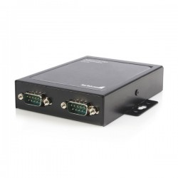 StarTech.com 2 Port Wall Mountable USB to Serial Adapter Hub with COM Retention