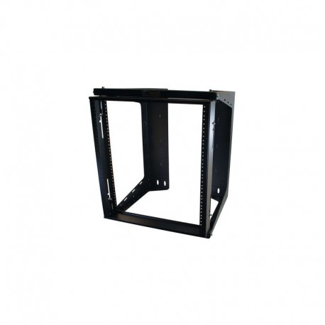 Swing Out Wall Mount Rack Black 20u x 18in