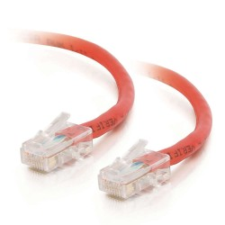 Red Cat5e Unbooted RJ45 Patch Leads