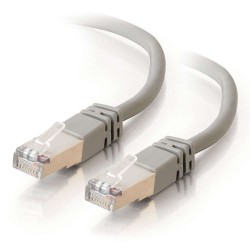 Grey Cat5e Shielded RJ45 Patch Leads